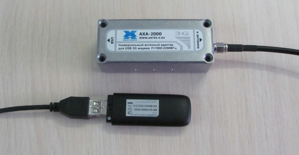 Вкладываем 3G USB-модем в адаптер AXA-2000.